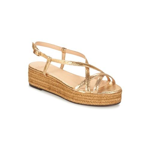 Shoes Women Sandals Castaner MAGDALENA Gold