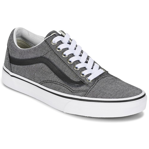 Shoes Low top trainers Vans OLD SKOOL Grey / Black