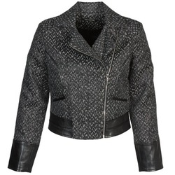 Clothing Women Jackets Fornarina SELINE Grey / Black