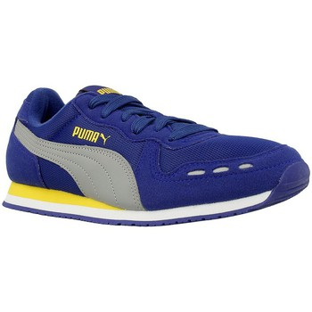 Shoes Children Low top trainers Puma Cabana Racer Mesh JR Grey-Violet
