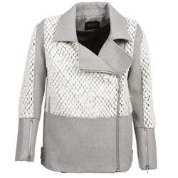 Clothing Women coats Eleven Paris FLEITZ Grey / BEIGE
