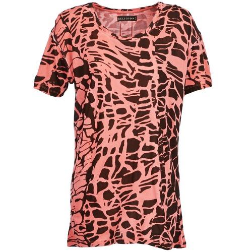 Clothing Women Short-sleeved t-shirts Religion HAWK Red / Black
