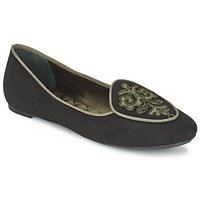 Shoes Women Flat shoes Etro 3059 Black / KAKI