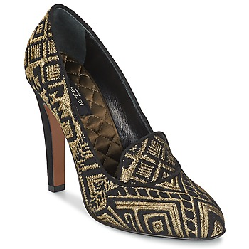 Shoes Women Heels Etro 3055 Black / Gold