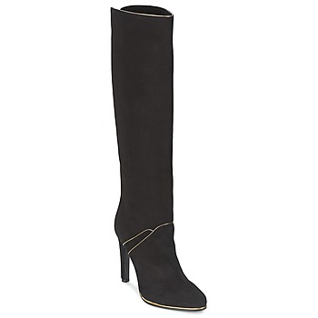 Shoes Women High boots Etro 3119 Black / Gold