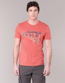 Clothing Men short-sleeved t-shirts Napapijri VINTAGE CORAL