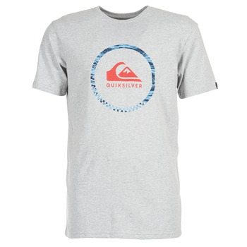 Clothing Men short-sleeved t-shirts Quiksilver ACTIVELOGO 3 Grey