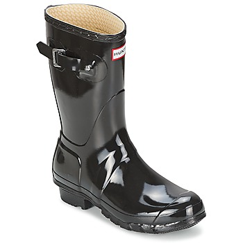 Shoes Women Wellington boots Hunter Women's Original Short Gloss Black