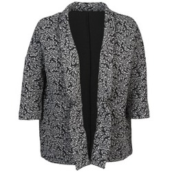 Clothing Women Jackets / Blazers Sisley FRANDA Black / Grey
