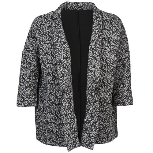 Clothing Women Jackets / Blazers Sisley FRANDA Black / Grey