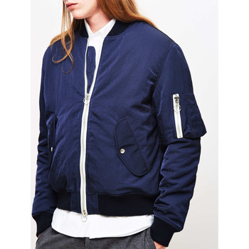 Clothing Men Jackets Soulland Thomasson Bomber Jacket Navy Blue