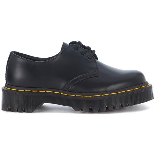 Shoes Women Derby Shoes Dr Martens Stringata  Bex 1461 tre fori in pelle nera Black