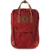 Bags Rucksacks Fjallraven Kånken by   15'' red backpack with leather handles Red