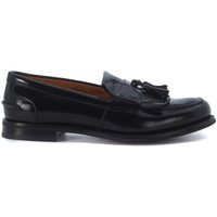 Shoes Women Loafers Church's Mocassino  Omega R in pelle nera spazzolata Black