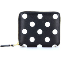 Bags Men Purses Comme Des Garcons in black leather and polka dots Black