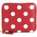 Comme Des Garcons Comme Des Garçons red leather and white polka dots wallet