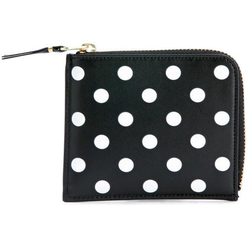 Bags Women Purses Comme Des Garcons Comme Des Garçons Wallets rectangular black and white polka dots Black