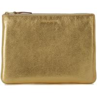 Bags Women Pouches / Clutches Comme Des Garcons Comme des Garçons golden leather pochette wallet Gold
