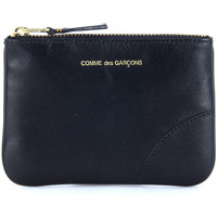 Bags Men Wallets Comme Des Garcons pouch in black calf leather Black