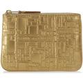 Comme Des Garcons Wallet Comme des Garçons golden leather with pattern