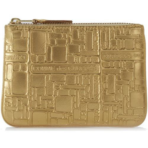 Bags Wallets Comme Des Garcons Wallet Comme des Garçons golden leather with pattern Gold