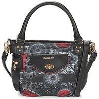 Bags Women Handbags Desigual MCBEE MINI BARBADOS Black / Grey / Red