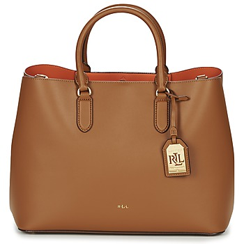 Bags Women Handbags Ralph Lauren DRYDEN MARCY TOTE Brown / Orange