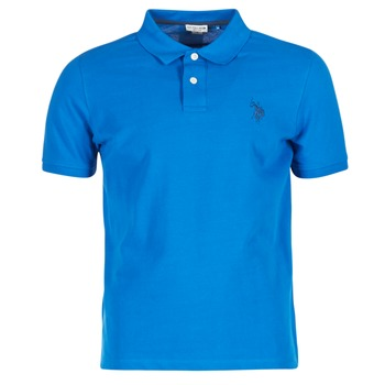 Clothing Men short-sleeved polo shirts U.S Polo Assn. INSTITUTIONAL Blue