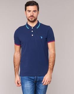 Clothing Men short-sleeved polo shirts U.S Polo Assn. BARNEY Marine