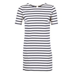 Clothing Women Short Dresses Loreak Mendian HAMABI Marine / White