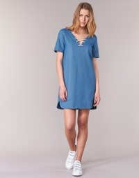 Clothing Women Short Dresses Loreak Mendian TXANGAI Blue