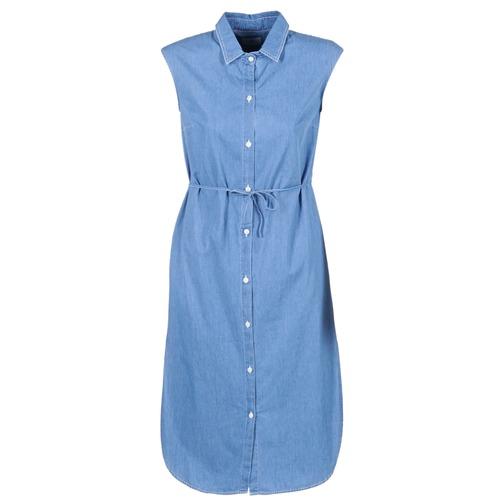 Clothing Women Long Dresses Loreak Mendian BAT ARKANSAS Blue