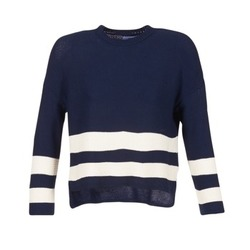 Clothing Women Jumpers Loreak Mendian MARINA Marine / White