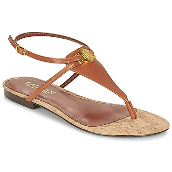 Shoes Women Sandals Lauren Ralph Lauren ANITA SANDALS CASUAL Brown