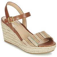Shoes Women Sandals Ralph Lauren KEARA ESPADRILLES CASUAL Brown / Multicoloured
