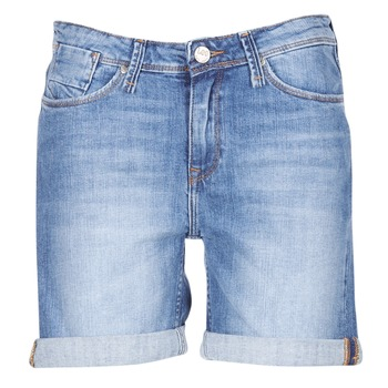 Clothing Women Shorts / Bermudas Lee BOYFRIEND SHORT Blue / Medium