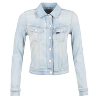 Clothing Women Denim jackets Lee SLIM RIDER Blue / Clear