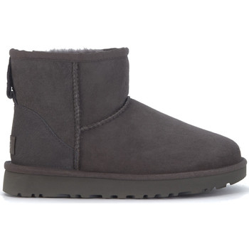 Shoes Women Mid boots UGG UGG Classic II Mini ankle boots in grey suede Black