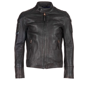 Clothing Men Leather jackets / Imitation leather Redskins HAMILTON Black
