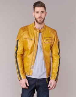 Clothing Men Leather jackets / Imitation leather Redskins RIVAS Yellow