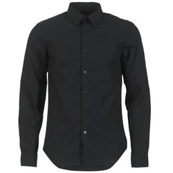Clothing Men long-sleeved shirts G-Star Raw CORE SHIRT Black