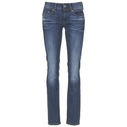 Clothing Women straight jeans G-Star Raw MIDGE SADDLE MID STRAIGHT MEDIUM / Aged / Stretch / DENIM