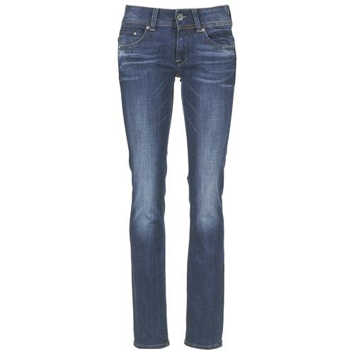 Clothing Women straight jeans G-Star Raw MIDGE SADDLE MID STRAIGHT Denim