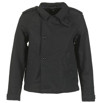 Clothing Women Trench coats G-Star Raw FLORENCE CROPPED Black