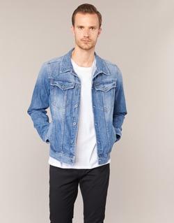 Clothing Men Denim jackets G-Star Raw 3301 DECONSTRUCTED 3D SLIM Blue