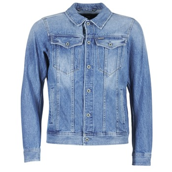Clothing Men Denim jackets G-Star Raw 3301 DECONSTRUCTED 3D SLIM Blue