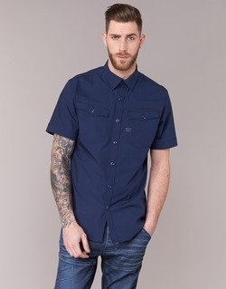 Clothing Men short-sleeved shirts G-Star Raw 3301 SHIRT MARINE