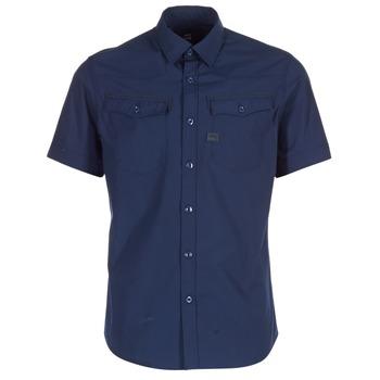 Clothing Men short-sleeved shirts G-Star Raw 3301 SHIRT Marine