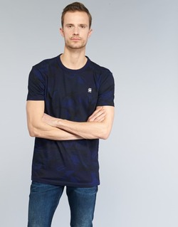 Clothing Men short-sleeved t-shirts G-Star Raw HOYN MARINE / Blue