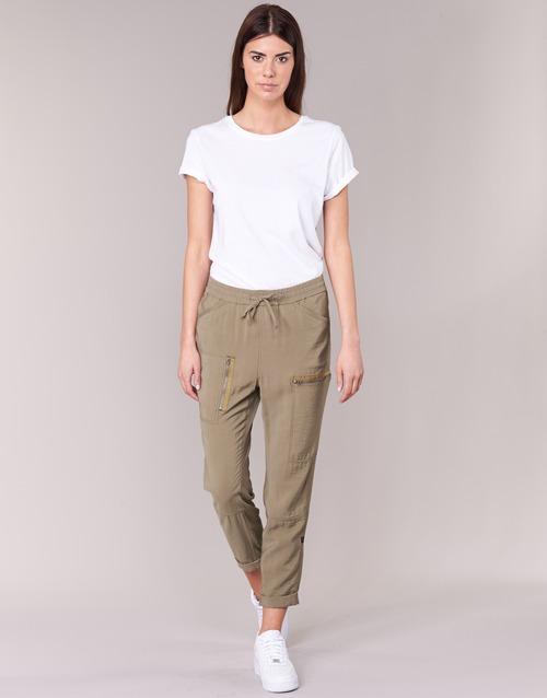 Clothing Women Wide leg / Harem trousers G-Star Raw POWEL UTILITY 3D SPORT Beige